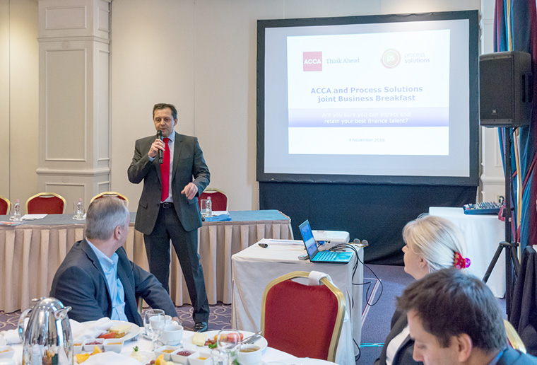 Process Solutions� successful joint business breakfast with ACCA in Budapest